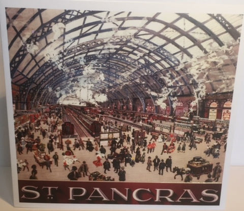 St. Pancras Train Station Blank Card - HerbysGifts.com