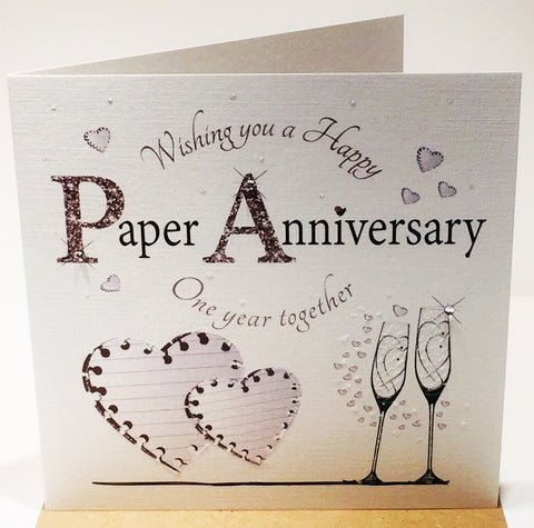 1st Wedding Anniversary Card - Paper - HerbysGifts.com