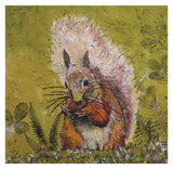Red Squirrel Greeting Card - Blank Inside - 6.5 x 6 Inches - HerbysGifts.com