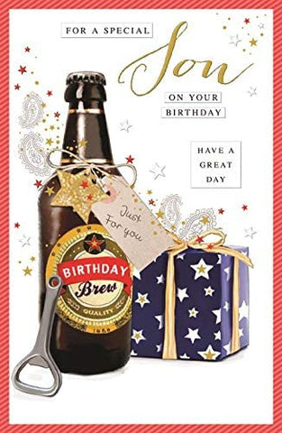 Large Son Birthday Card - HerbysGifts.com