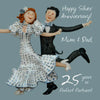 25th Silver Wedding Anniversary Card for Mum and Dad - HerbysGifts.com