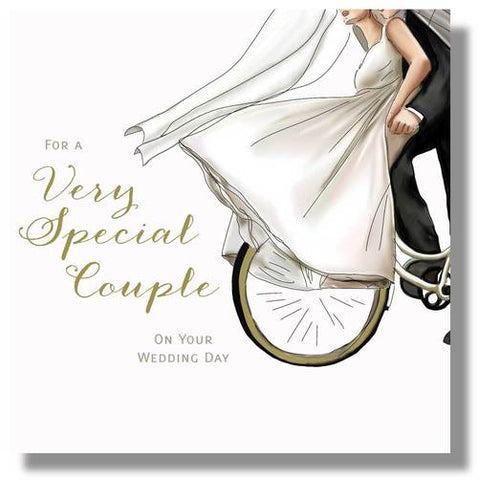 Very Special Couple On Your Wedding Day Card - HerbysGifts.com - 8.25 x 8.25 Inches