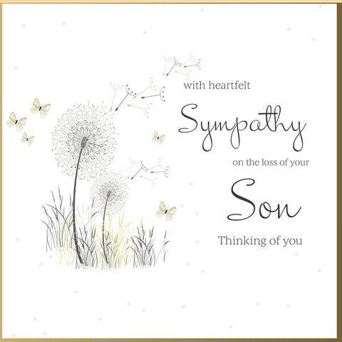 Loss Of Your Son Sympathy Card - HerbysGifts.com