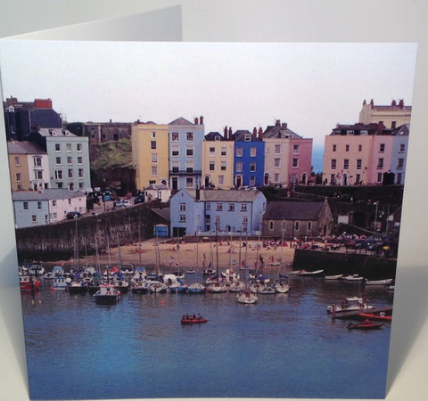 Tenby Harbour Birthday or Anniversary Greeting Card