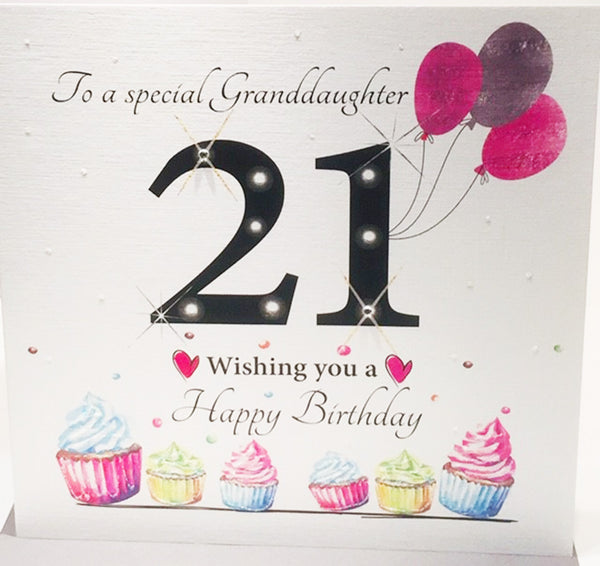 Large 21st Birthday Card