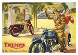 Triumph Motorcycle Greeting Card - Blank Inside - 7 x 5 Inches - HerbysGifts.com