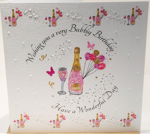 Birthday Card with Bubbly - HerbysGifts.com