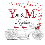 Valentines Day Card - You & Me Together - HerbysGifts.com - 6 x 6 Inches