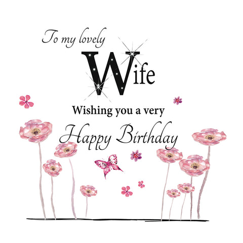 Large Birthday Card Wife - HerbysGifts.com