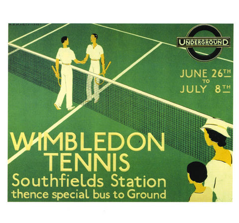Wimbledon Tennis Greetings Card - Blank Inside - HerbysGifts.com