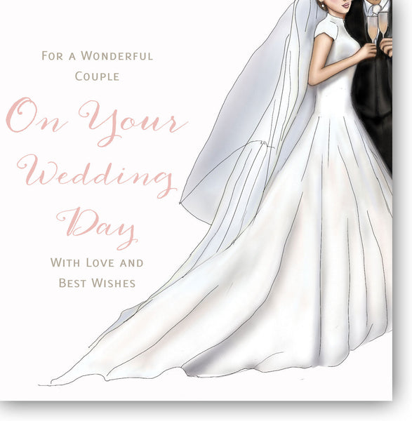 On your wedding day card wedding day card bride and groom wedding wedding day card herbysgifts 825 x 825 inches m4hsunfo