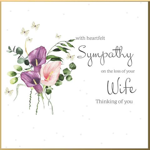 Loss Of Your Wife Sympathy Card - HerbysGifts.com