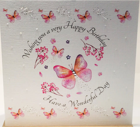 Birthday Card with Butterflies - HerbysGifts.com
