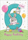 6th Birthday Card For A Girl  - HerbysGifts.com