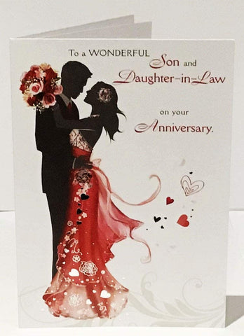 Son & Daughter-in-Law Anniversary Card - HerbysGifts.com