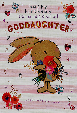 Goddaughter Birthday Card - HerbysGifts.com