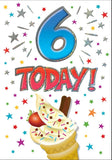 6th Birthday Card - HerbysGifts.com