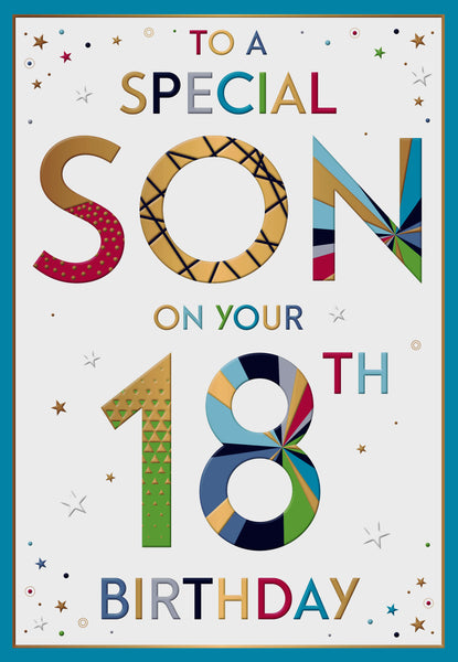 Excellent Son 18Th Birthday Card 18Th Birthday Card Son Son 18Th Birthday Personalised Birthday Cards Cominlily Jamesorg
