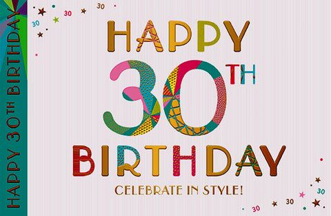 30th Birthday Card Female - HerbysGifts.com