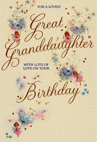 Great Granddaughter Birthday Card - HerbysGifts.com