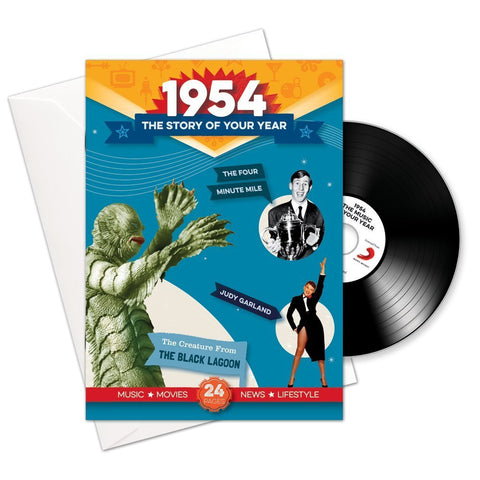 1954 Story of Your Year CD Card Booklet Gift - HerbysGifts.com