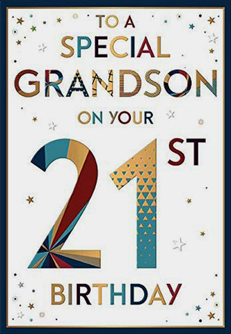 Grandson 21st Birthday Card - HerbysGifts.com