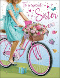Sister Birthday Card - Bicycle - HerbysGifts.com