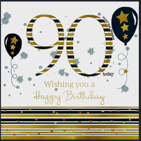 90th birthday card man - HerbysGifts.com