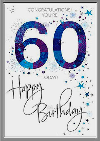 60th Birthday Card Man - HerbysGifts.com