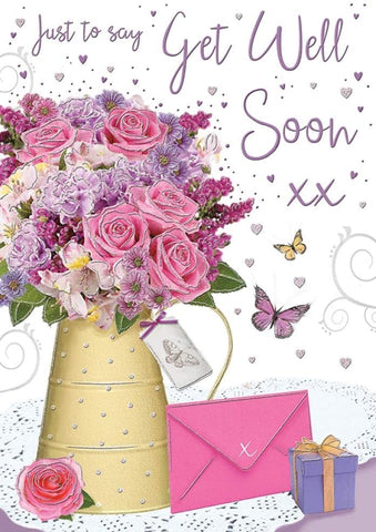 Get Well Soon Card - Female - HerbysGifts.com