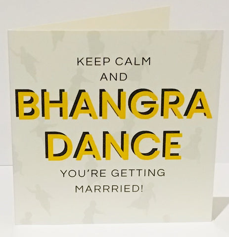Bhangra Dance Wedding Day Card - HerbysGifts.com