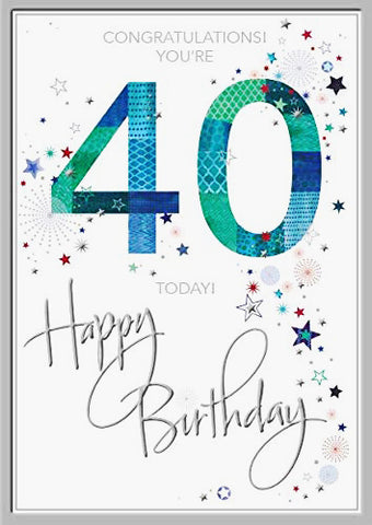 40th Birthday Card Man - HerbysGifts.com