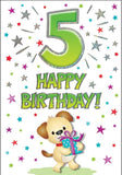 5th Birthday Card - HerbysGifts.com