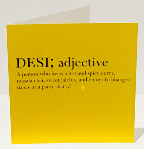 Desi Definition Card - HerbysGifts.com