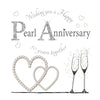 30th Wedding Anniversary Card - Pearl - HerbysGifts.com