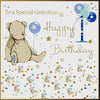 Grandson 1st Birthday Card - HerbysGifts.com