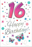 16th Birthday Card - HerbysGifts.com