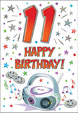 11th Birthday Card - HerbysGifts.com