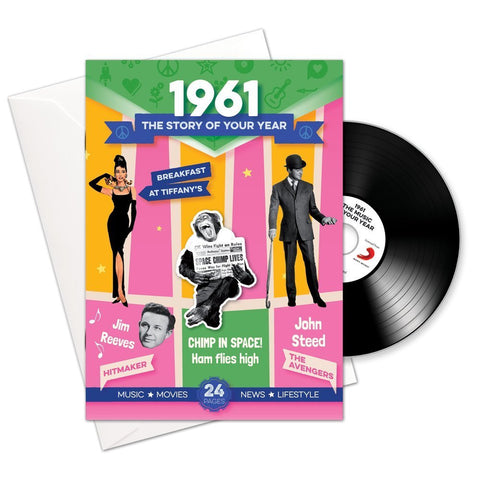1961 Story of Your Year CD Card Booklet Gift - HerbysGifts.com