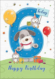 6th Birthday Card For A Boy - HerbysGifts.com