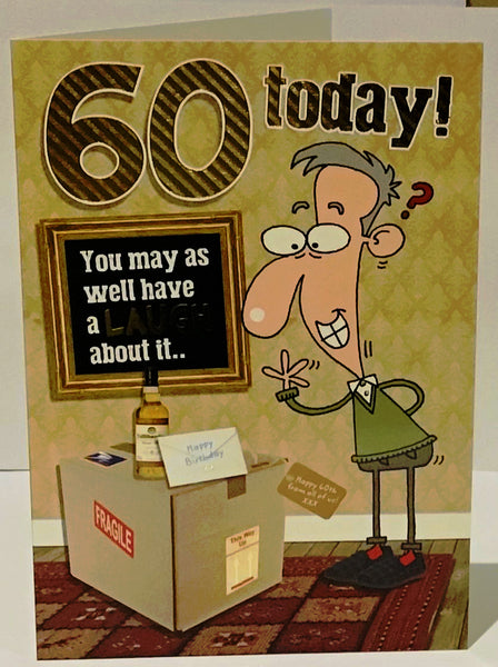 Funny 60th Birthday Card Man 60th Birthday Card 60th Birthday Card For A Man Funny 60th Birthday Card Greeting Cards Herbys Gifts Cards