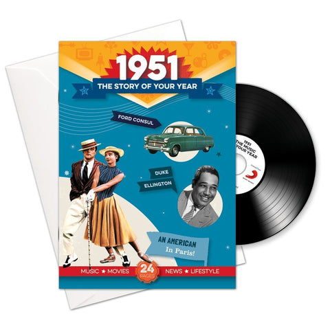 1951 Story of Your Year CD Card Booklet Gift - HerbysGifts.com