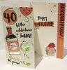 40th Birthday Card Woman - Gin - HerbysGifts.com