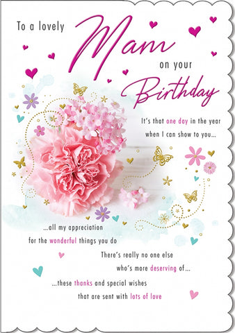 Mam Birthday Card - HerbysGifts.com