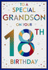 Grandson 18th Birthday Card - HerbysGifts.com