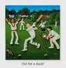 "Cricket ""Out For A Duck"" Greeting Card - HerbysGifts.com"