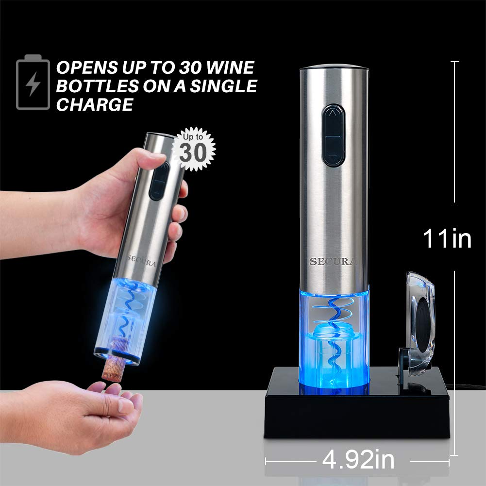 Automatic Electric Wine Bottle Corkscrew Opener