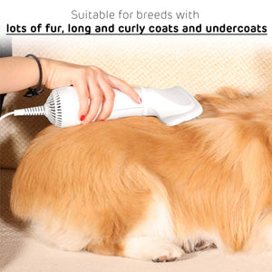 2 in 1 Pet Grooming Hair Dryer Blower with Slicker Brush-【50% OFF】