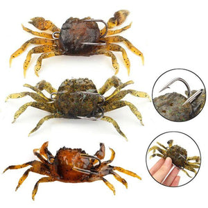 6 Pack-Nature Lifelike Fish Fishing Crab Lures 3 colors