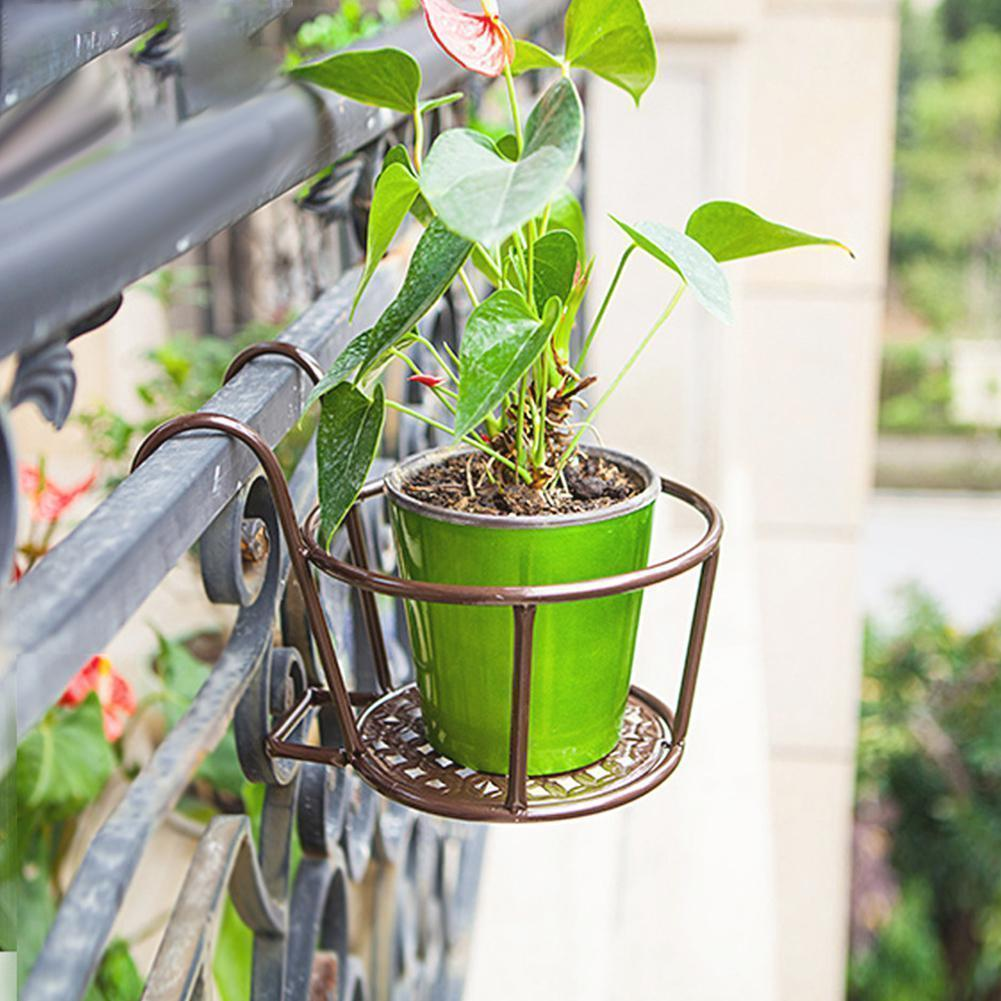 Window Decor Hanging Flower Basket Bronze Flower Pots & Planters